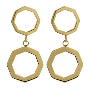 Picture of Gold Octagonal Duo Hoops